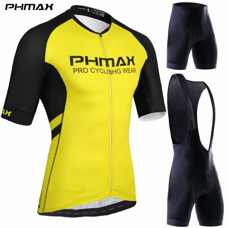 PHMAX Bisiklet Giyim Bisiklet Mans PhsY # için Kol Bisiklet forması Jersey Seti Yol MTB Bisiklet Giyimde İtalya Silikon kıskaçlı ayarlar