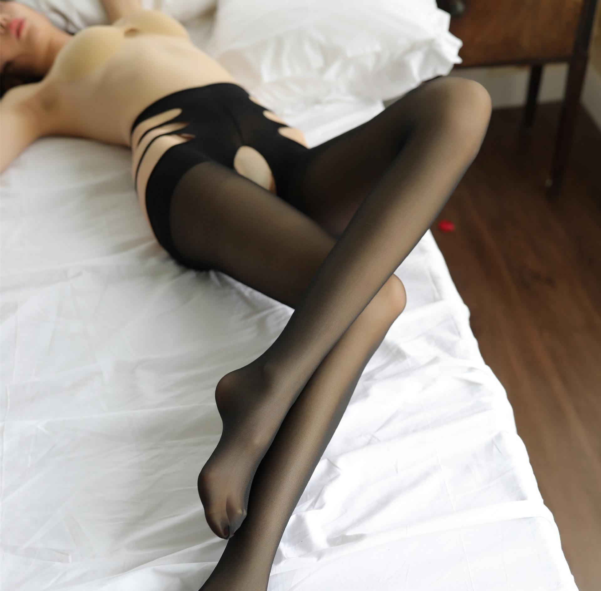 gato qJbUk fina meias quatro laterais lingerie sexy e roupas íntimas e perspectiva livre de virilha meia-calça meia-calça aberta rosto transparente