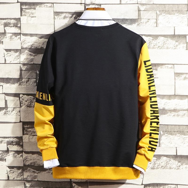 Новый свитер осенью и зимой супер большой мужской жирный плюс большой круглый шею свободный свитер с длинным рукавом