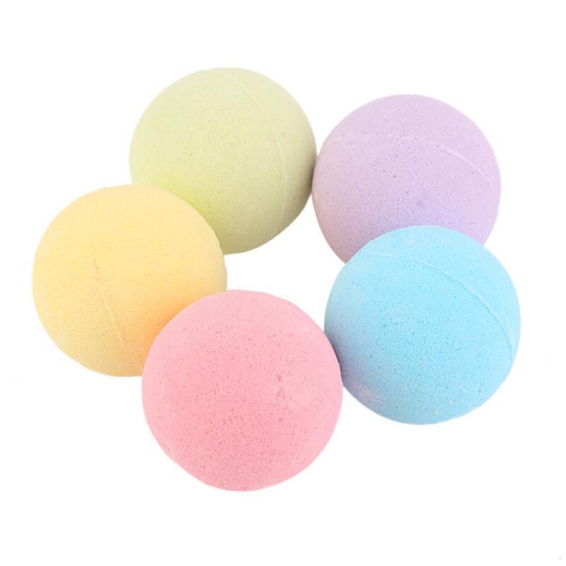 bola sal saúde 10g Banho de bolha cor aleatória Natural Bath bomba Bola Essential Oil Handmade SPA sais de banho de bola efervescente LX2629
