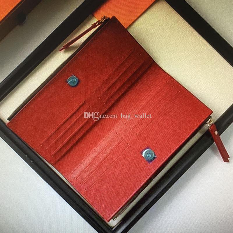 Wholesale M61287 ADELE Wallet Fashion Leather Women Long Double Zippy Wallets Trendy Zipper Evening Clutch Coin Credit Card Holder Purses