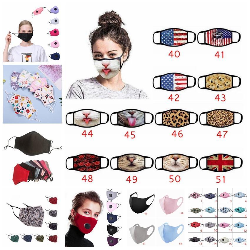 Padrão Multi-Estilo Máscaras mistos PM2.5 Anti Poeira Smog Máscara impresso Camuflagem reutilizável lavável respirável Adulto Kid cobrir a boca LJJP160