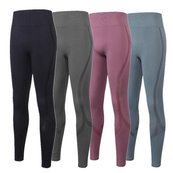 Pantalon de yoga Femmes Sports à taille haute Sports Full Leggings Gym Pantalons de dames Entraînement Fitness Portez leggings en cours d'exécution Pantalon d'athlétisme