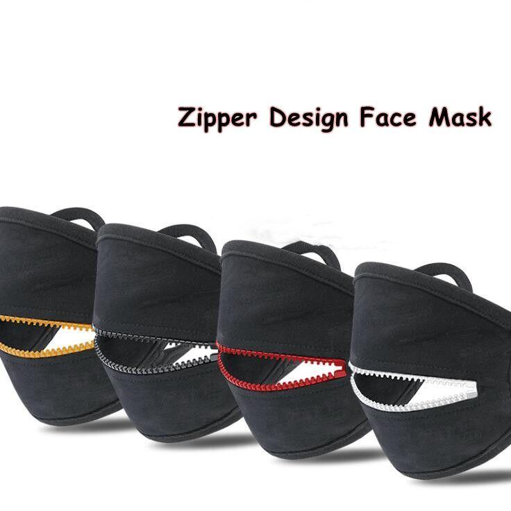 Zipper Design Face Mask Washable Reusable Cycling Protective Mask Adult Dustproof Breathable Sports Mask Designer Masks CCA12394 60pcs