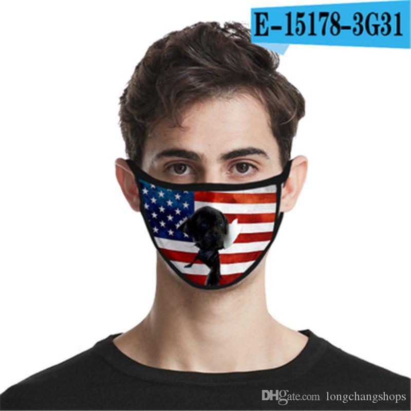 Filtro de pacote de varejo 95% máscara reutilizável fornecimento de fábrica 5 Camada Anti Poeira Rosto máscara protetora Designer Boca máscaras sem válvula # QA247 17