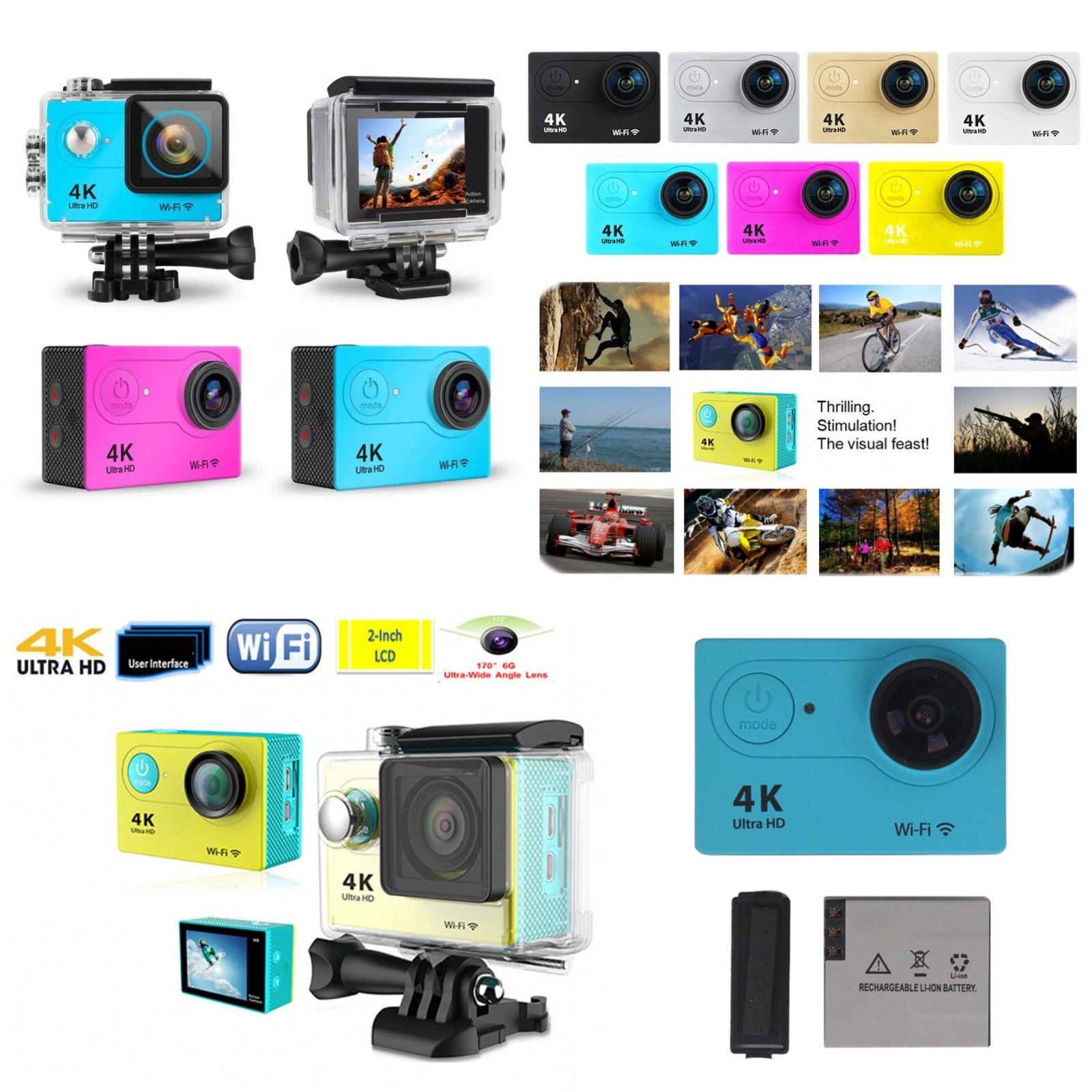 "Ultra Full HD 4K Action Camera 30m Waterproof DVR 2"" Screen 1080P 12MP Remote Control Sport WIFI Extreme Helmet Camcorder Car Cam DV"