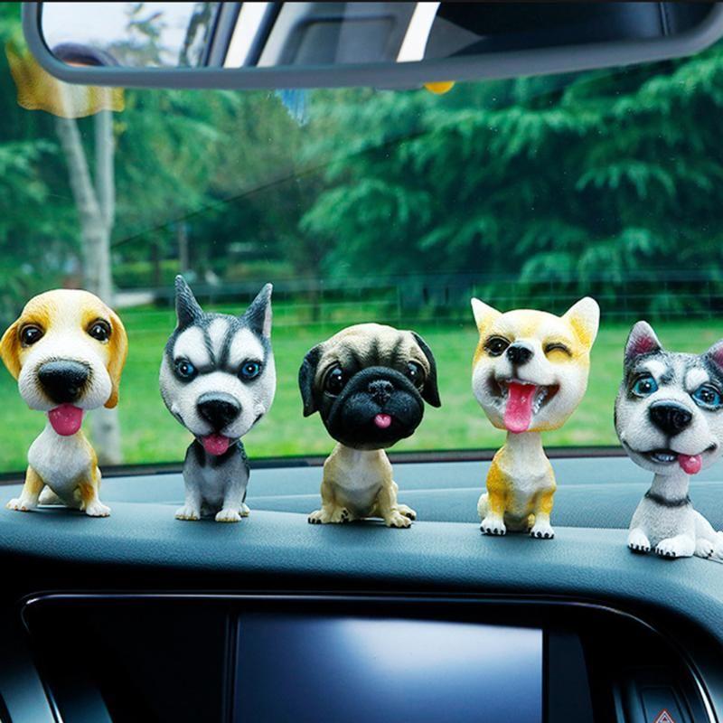 Shaking Head Toys Nodding Dog Funny Cute Bobblehead Puppy Dolls Swing Car Decor