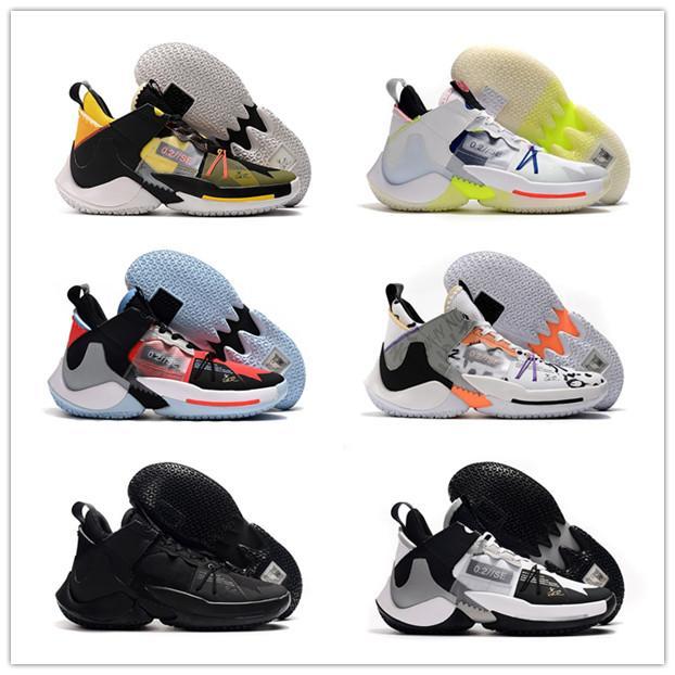 2020 nuovi pattini di Bruce Lee Russell Westbrook 2 Why Not Zer0.2 Chaos Future History All Stars basket Bianco Nero scarpe da ginnastica blu Mens Sport