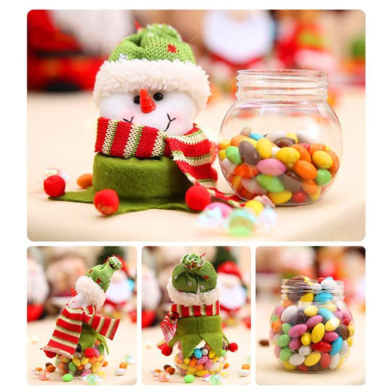 Christmas Candy Box Jar Santa Claus Style Festival Candy Storage Case Decoration Discount Outdoor Christmas Decorations Elegant Christ J8U4#