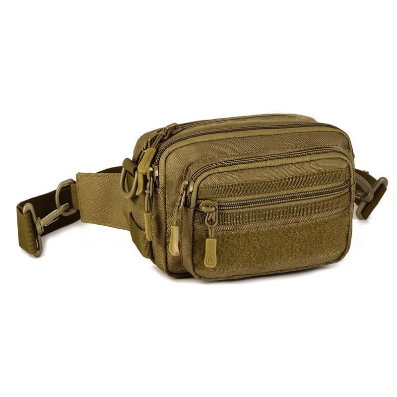 Mehrzweckhandtasche Männer Tactical Molle Messenger Bag Wasserdicht Camo Klettern Reisen Hüfttasche Sport