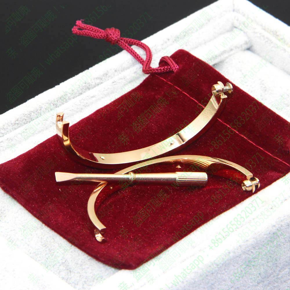 Armbänder Titanium Stahl Oval Paar Schmuck Horizontal Screw-Armband-Armbänder Frauen Männer Femme Bijoux Pulseira Schraubendreher