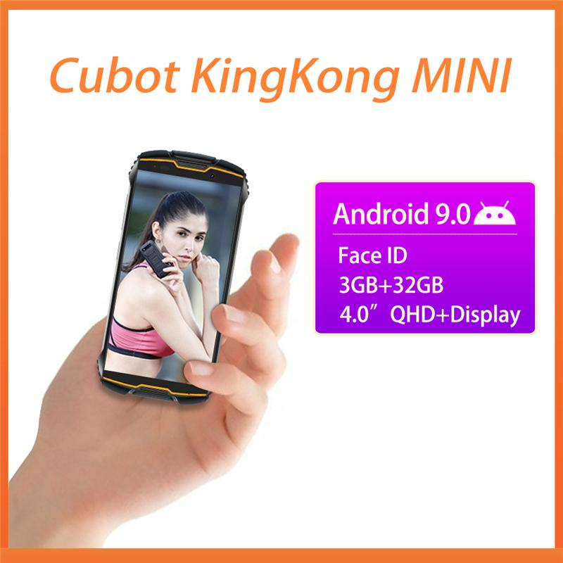"Cubot Kingkong MINI 4"" QHD + 18: 9 Robuste Phone wasserdichte 4G LTE Dual-SIM-3GB + 32GB Android 9.0 Outdoor-Smartphone Compact Phone"
