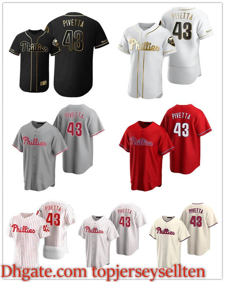 FiladelfiaPhilliesHombres Mujeres Juveniles 43 Nick Pivetta 2020 auténtica jersey de béisbol