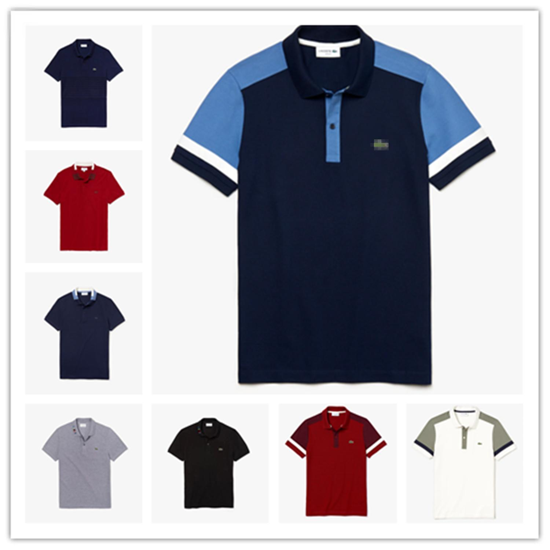 최고 품질 프랑스 클래식 악어 남성 '폴로 T 셔츠 # 006 파리 패션 뉴저지 레알 마드리드 여름 반팔 남성 티셔츠 맨체스터