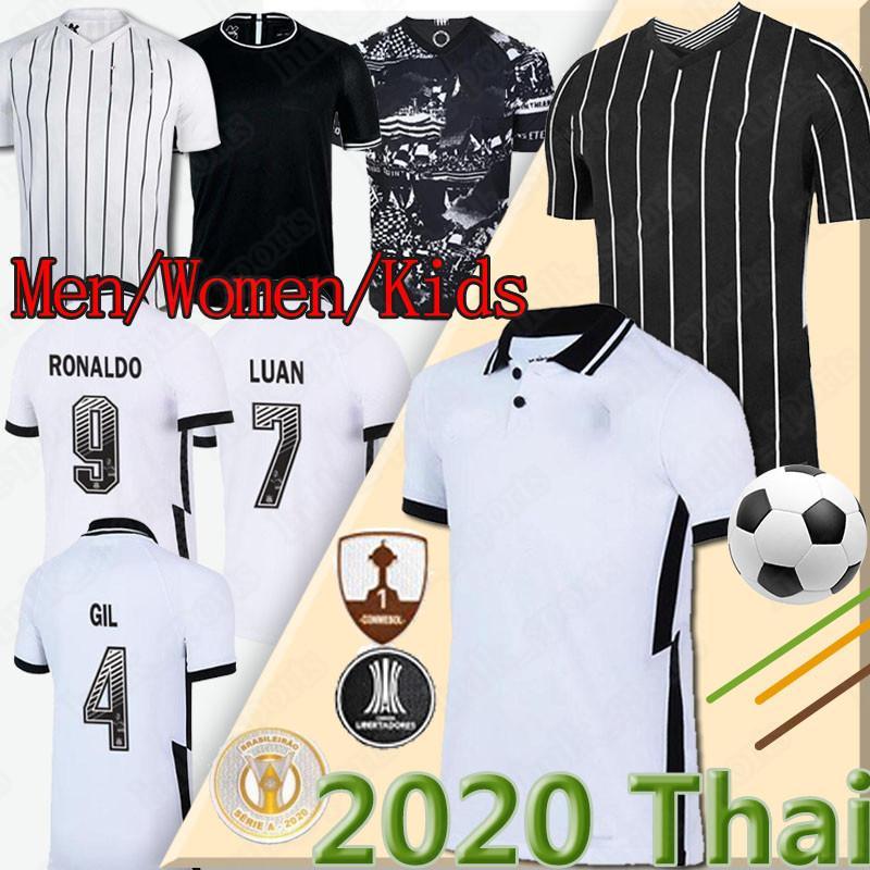 camisas de futebol corinthians 2020 2021 Co Camisas de futebol GIL RONALDO LUAN Fagner PEDRINHO 20 21 homens NETO + crianças uniforme kit