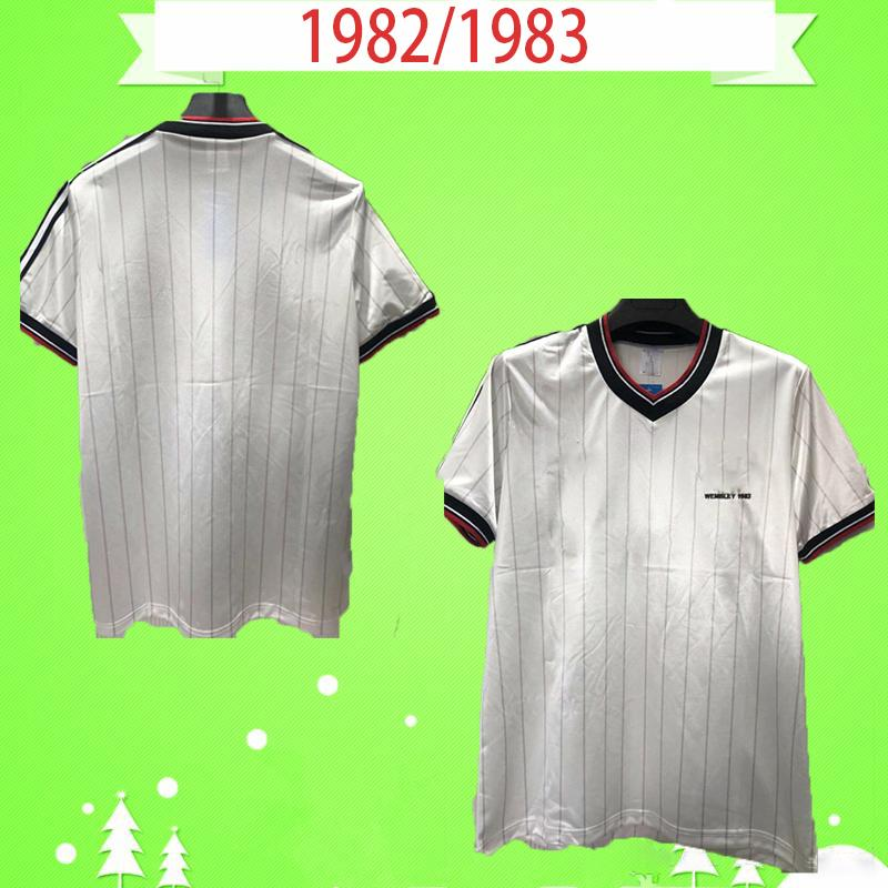 Manchester United Manchester 1982 1983 Retro Futbol Gömlek 82 83 Uzakta Beyaz Vintage Futbol Formaları Adam Utd