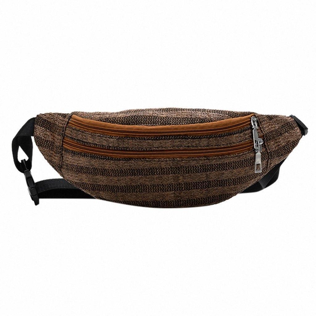 Mulheres Saco Da cintura para embalagens pequenas Weaving Zipper Praça Bag Purse Heuptas Banana sacos de telefone ombro Crossbody Peito Bolsa #P yMRy #