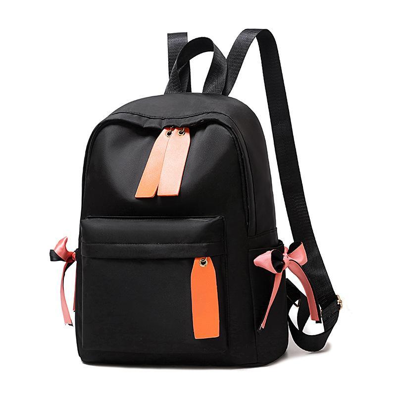 Schoolbag Lady Backpack 2020 nova tendência coreana simples cor sólida Zipper macia Voltar Canvas High Escola Simples Estudante Backpack