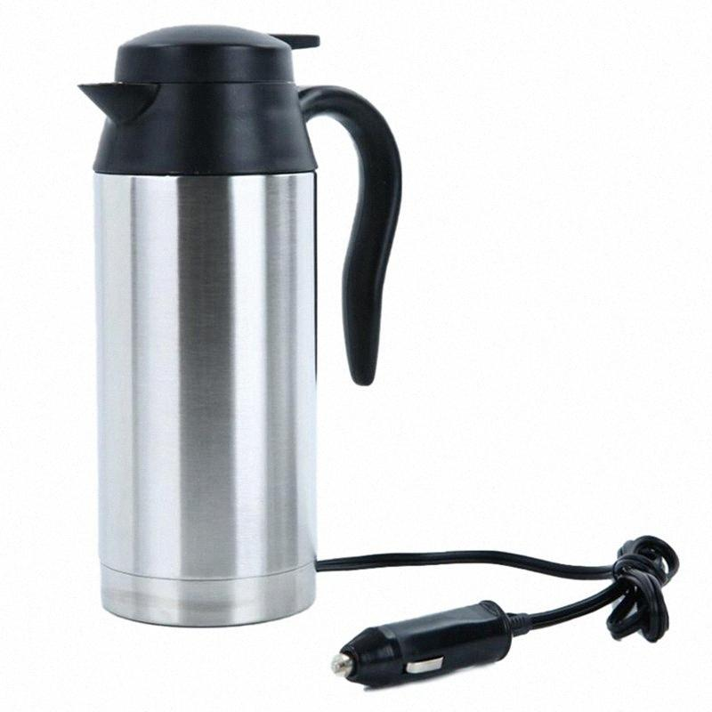 750ml 2V24V Chauffage voiture électrique Pot Cup Bouilloire Camping Voyage Voyage café eau chauffée Tasse d'ébullition Z4YF #