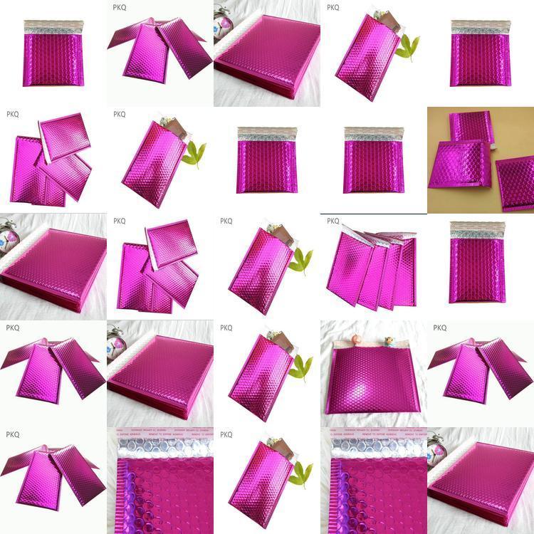 Bolha metálico Utentes metálico acolchoados Envelopes Azul Brilhante Poly bolha Bags C5 grande bolha Bags acolchoados envelopes SHnww xhhair