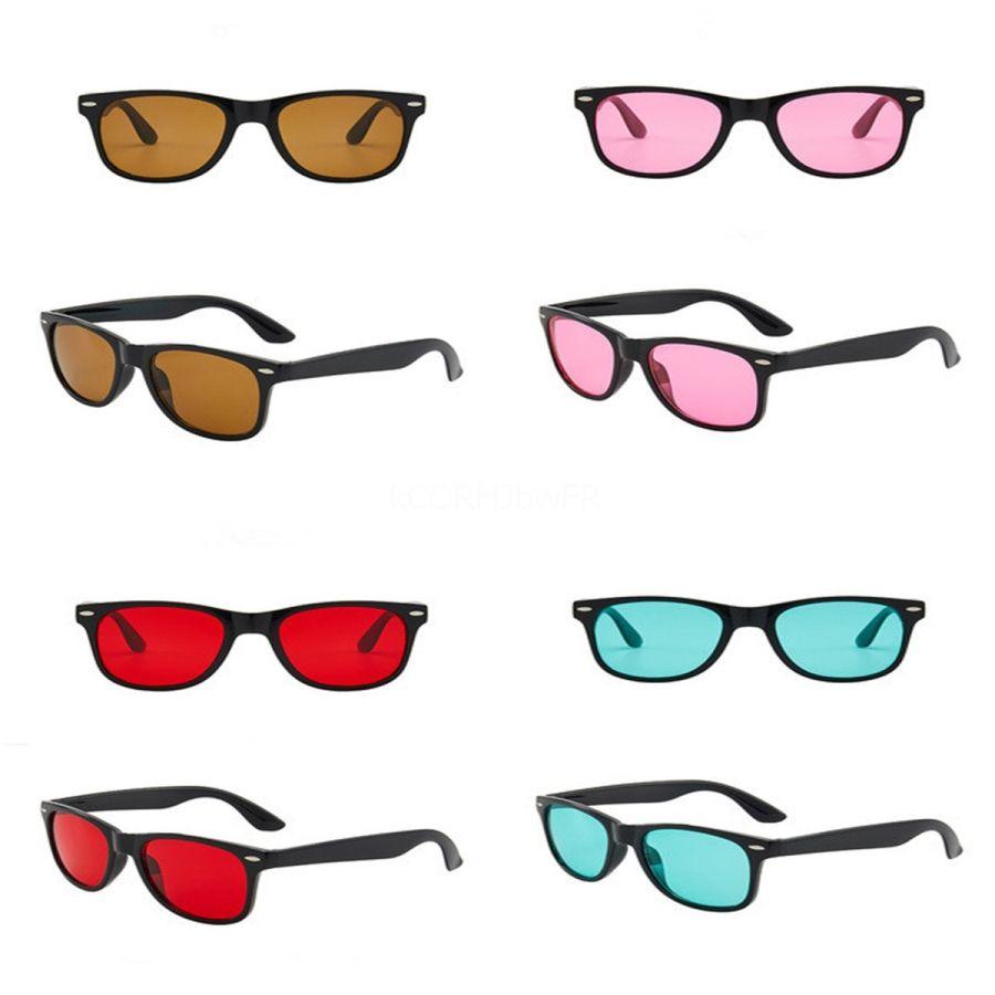IVSTA Корейский солнцезащитные очки Желтые линзы море Женщины 2020 Utterfly Стиль V Party Мужчины Прохладный желе конфеты цвет # 123