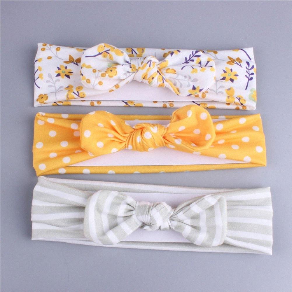 3шт Набор для новорожденных малышей Baby Girl Hairband Flower Dot нашивки оголовье Младенец Дети Аксессуары для волос Dlhf #
