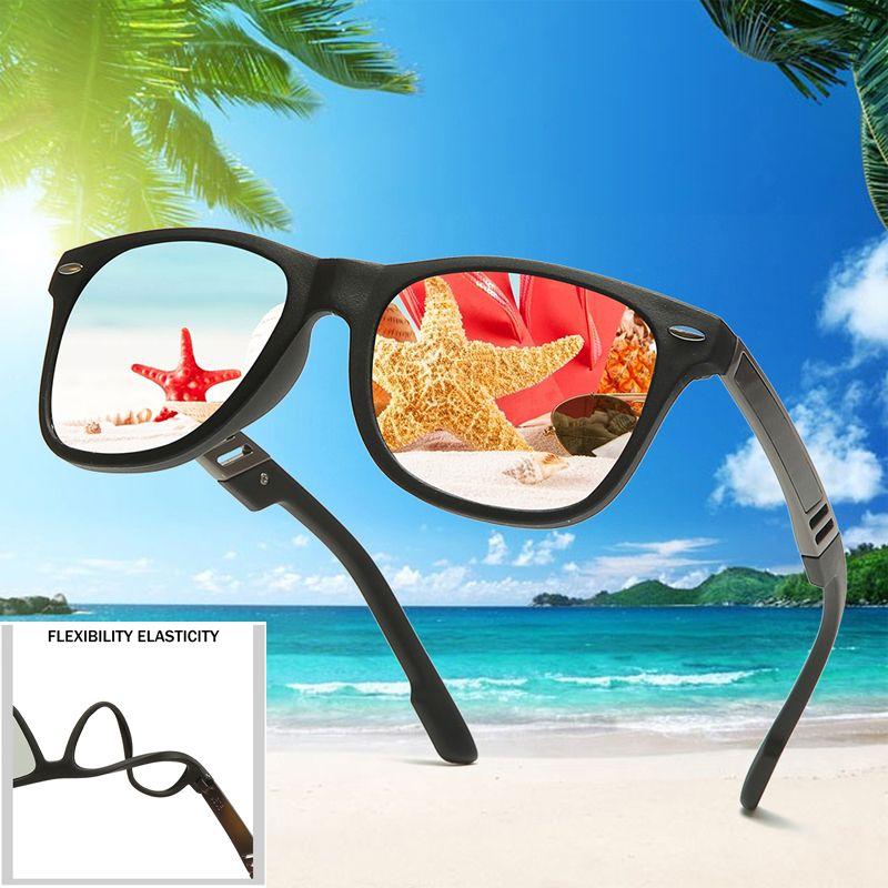 Sunglases tr90 mulheres quadradas de borracha de borracha vintage vintage óculos sol sol para óculos de sol polarized óculos de sol homens kjnno