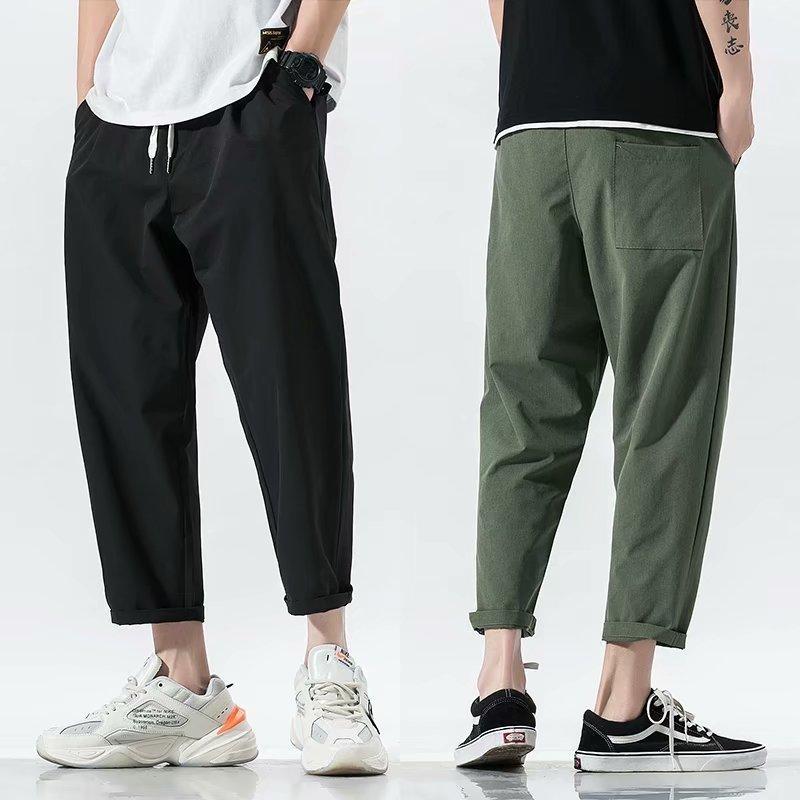 2020 Pantaloni Nero Army Verde Harem dei nuovi uomini di estate Streetwear uomini sciolti pantaloni casuali di lunghezza della caviglia pantaloni S-3XL