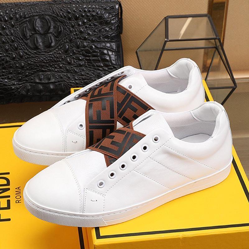 Sapatos Masculinos Moda respirável Luxo Sapatilhas Zapatos Hombre Sports Shoes Branco deslizamento de couro -Ons Sneakers Vintage Scarpe Da Uomo Drop Ship