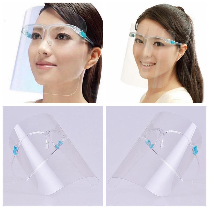 Sicherheit Transparente Gesichtsschutz-Maske PET Kunststoff klar Face Shield Wiederverwendbare Anti Splash Nebel Schutzmaske Gesichtsschild Designer Masken RRA3350