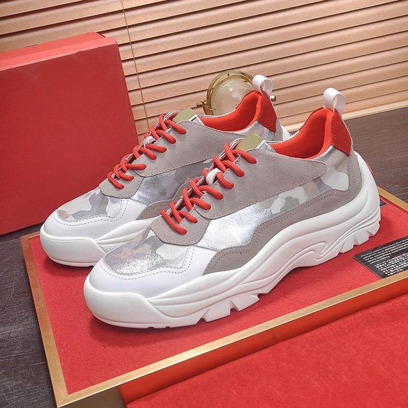 Gumboy vitello Sneaker uomini '; s scarpe di lusso Zapatos De Hombre Sport Calzature dell'annata di alta qualità Lace-Up Bassa Tipo superiore casuale degli uomini S