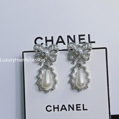Top donne gioielli retrò orecchini in ottone alfabeto orecchini di design di alta qualità delle donne Elagant orecchini di stile di moda con scatola XX096