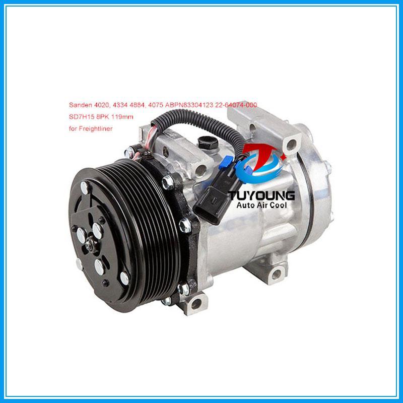 Vendita diretta della fabbrica di alta qualità SD7H15 Compressore AC Freightliner Sanden 4020, 4334, 4352, 4417, 4485, 4818, 4884, 4075 ABPN83304123
