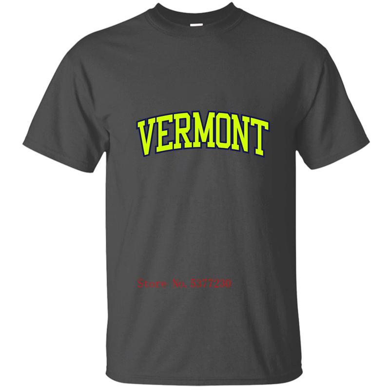 Vermont Mens T-Shirt Mens uomini della maglietta degli uomini della maglietta vestiti 100% cotton Maschio Grandi Dimensioni 2020 Cool Top maglietta maglietta uomo uomini