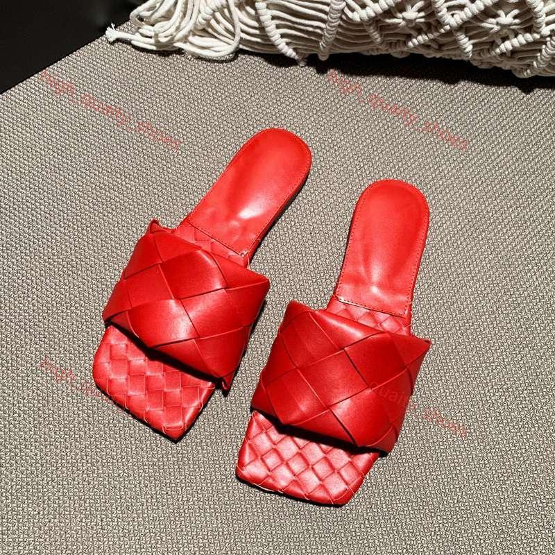 Designer pantoufles femmes chaussures carré mules semelles sandales en peau d'agneau nappa de plat dame de luxe chaussures femmes de qualité supérieure