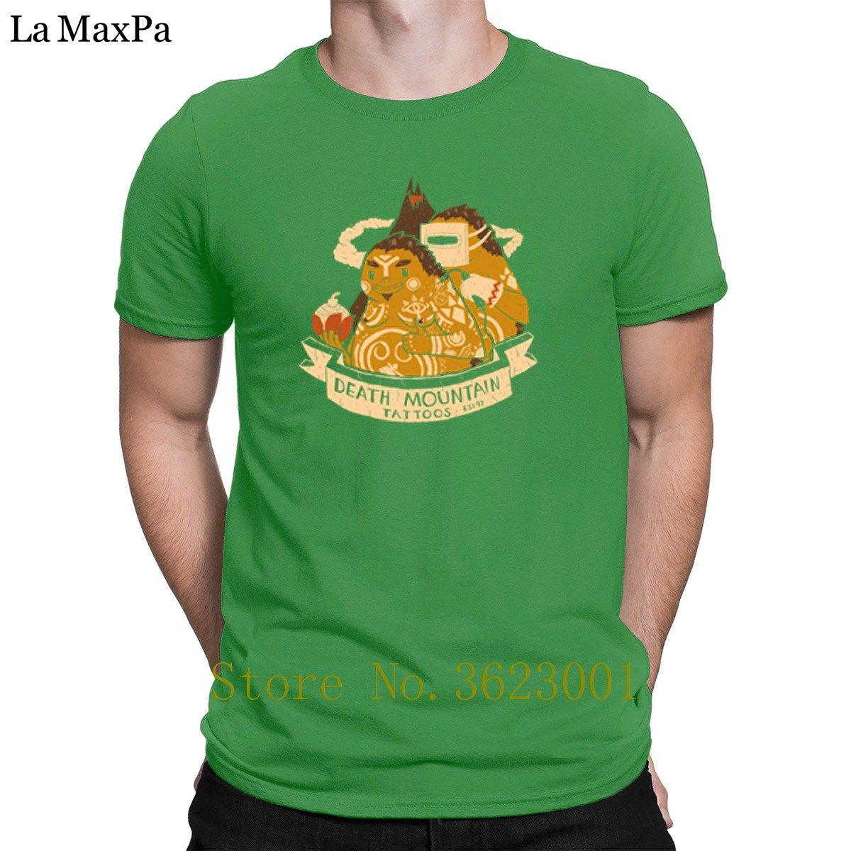 Impressão em torno do pescoço T Shirt Death Mountain Tattoos T shirt dos homens Homme Família Camiseta Hiphop homens camisetas respirável Vintage