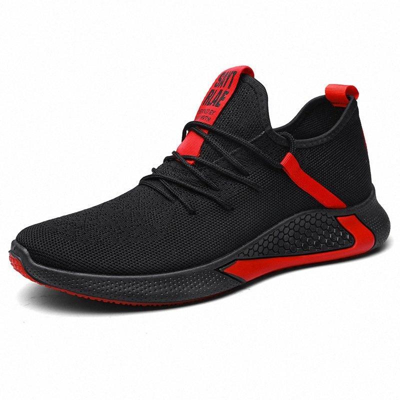 2020 2020 primavera nuevo estilo transpirable tejidas zapatos atléticos de los zapatos para hombre del estilo coreano de la manera de corrientes ocasionales rGX5 #