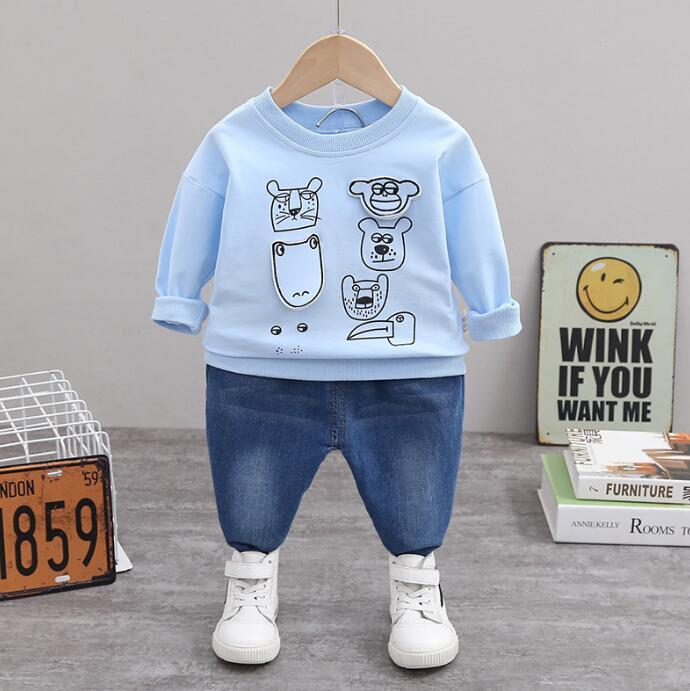 Boys' Autumn Clothes Children's Suit 2020 New foreign children's clothes handsome and fashionable children's spring and autumn two piece set