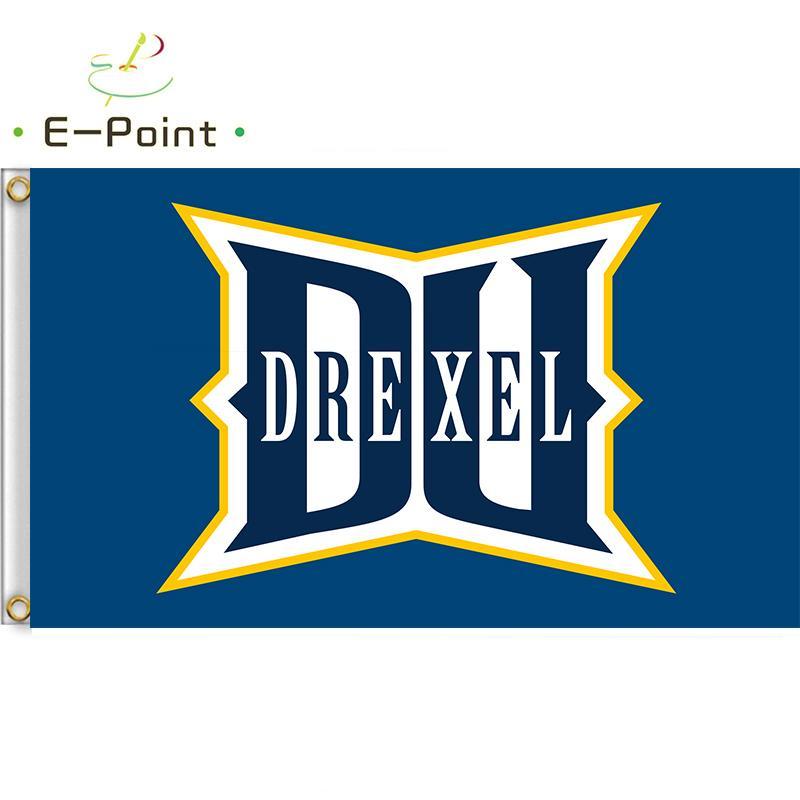 Bandera de la NCAA Drexel Dragons recién poliéster bandera de 3 pies 5 pies * (150cm * 90cm) indicador de la bandera de la decoración de volar a casa regalos del jardín al aire libre