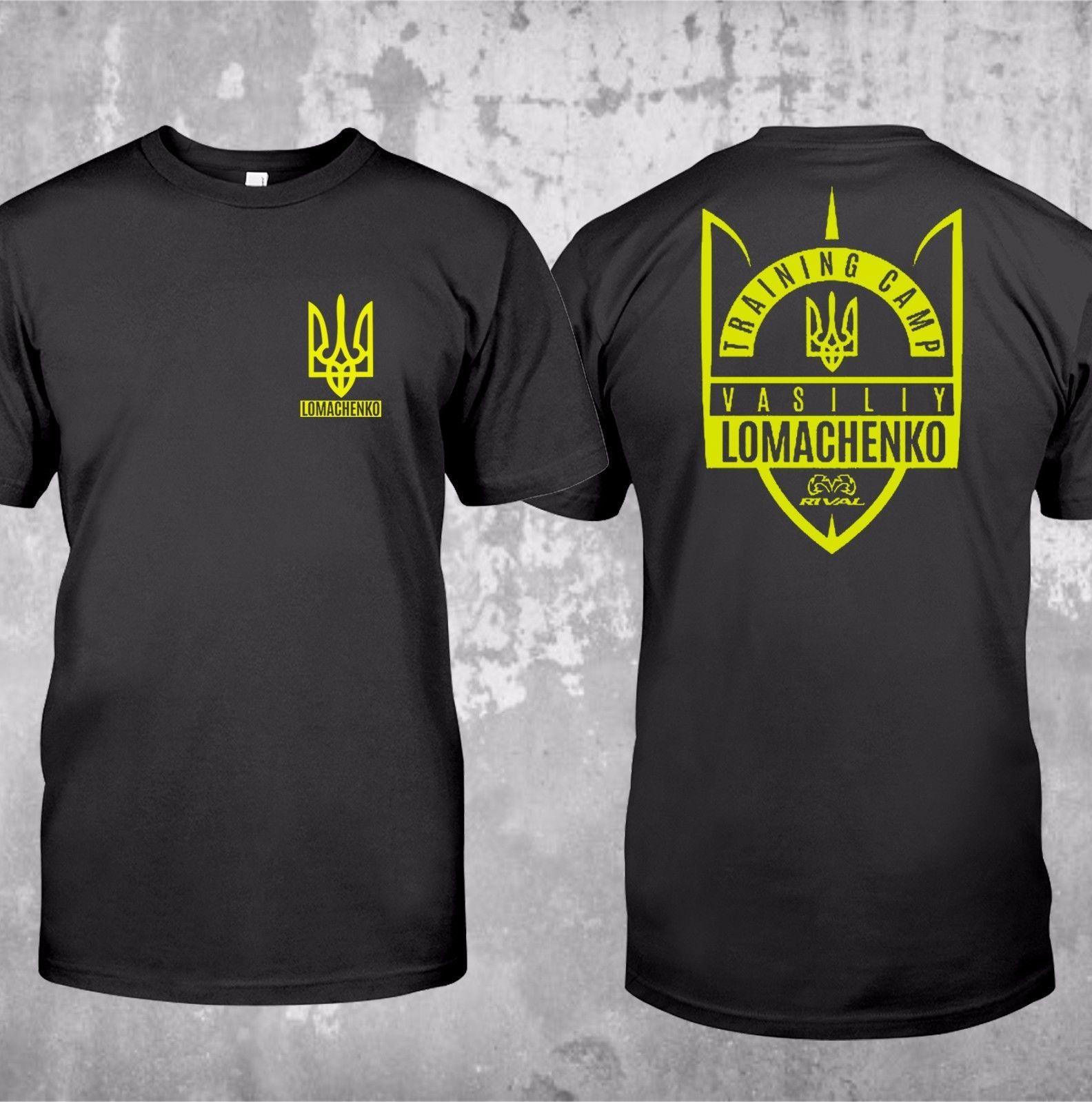Sıcak Satış Yaz Yeni Lomachenko Ukrayna Dünya Trainer T-Shirttee Gömlek Harajuku Mens Tişörtlü Harajuku Tişört Man Yuvarlak Yaka