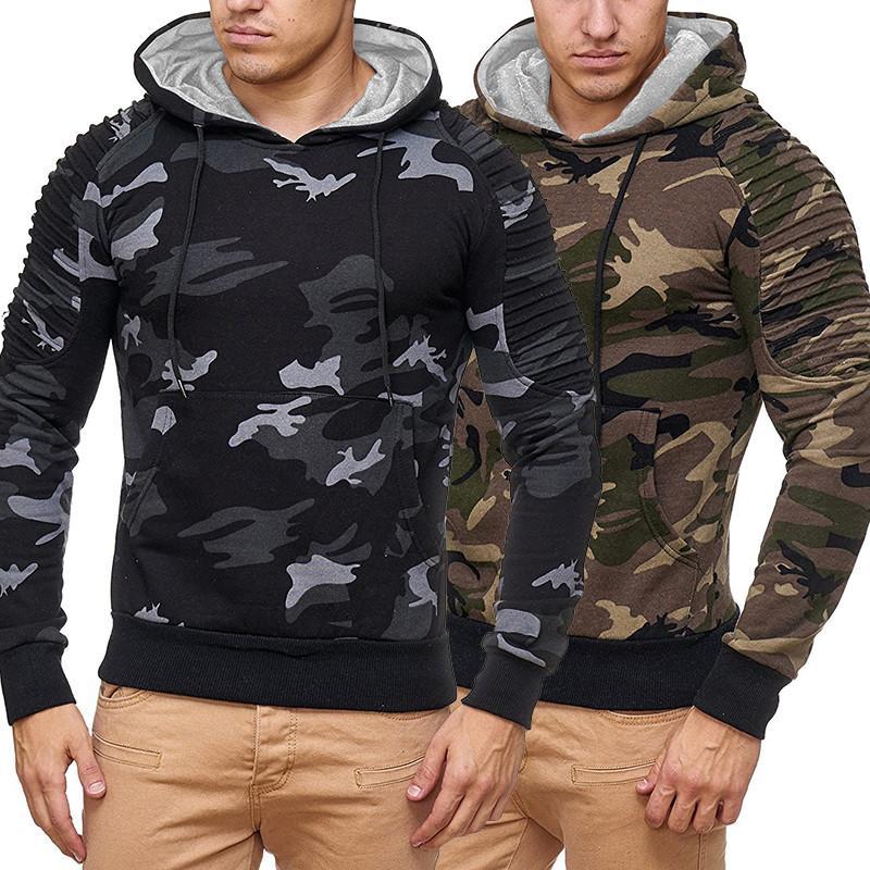 Mens 2020 Designer Hoodies Herbst New Pullover mit Kapuze Camouflage Sweatshirts Langarm Revers Hals Männlich Kleidung