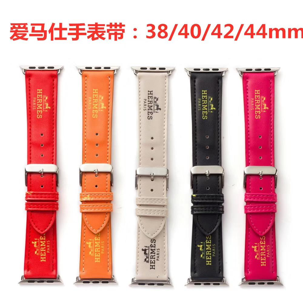 Смотреть Band ремешок для яблочных 38мм 40мм 42мм 44мм PU кожи Смарт часы Замена с разъемом адаптера для Apple Series 3 2 1