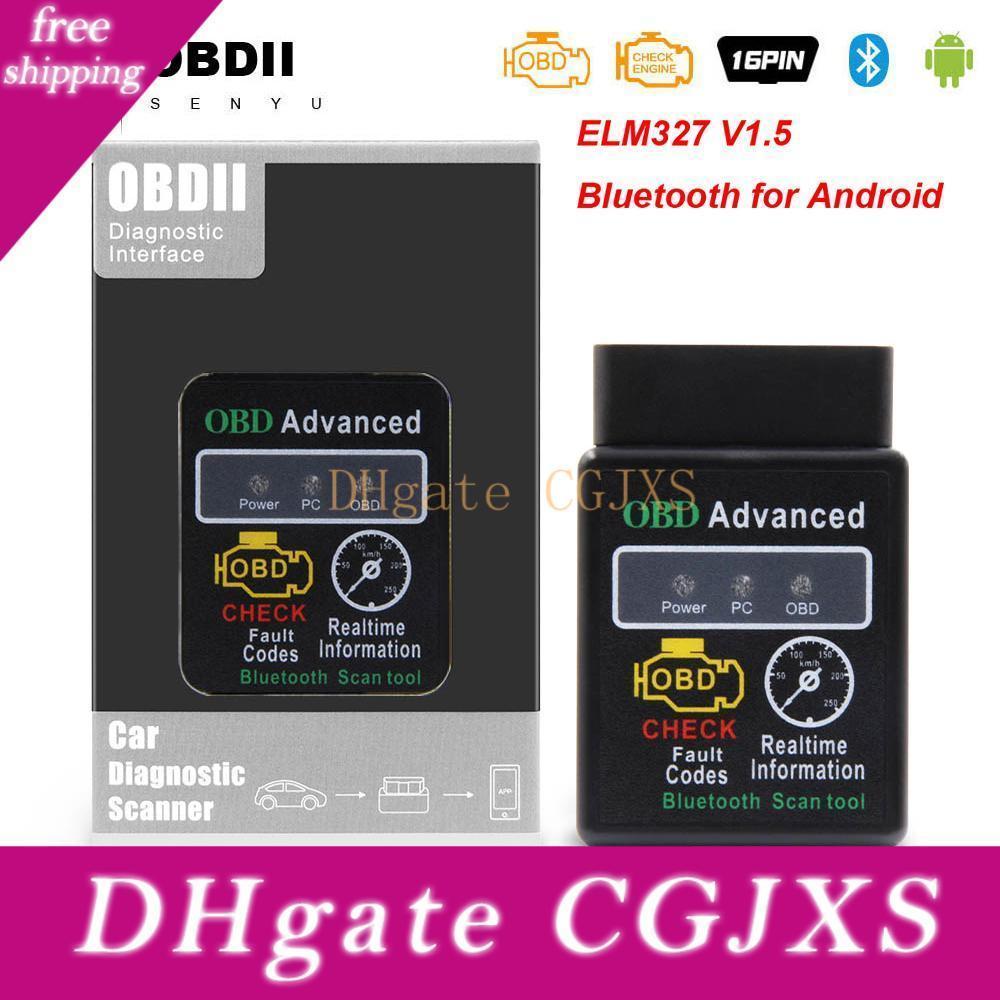 느릅 나무 327 V1 0.5 Hh를 OBD를 들어 안드로이드 OBD2 블루투스 스캐너 ELM327 OBD OBD2 자동차 진단 도구 ELM327 V1 0.5 코드 리더 2 스캐너