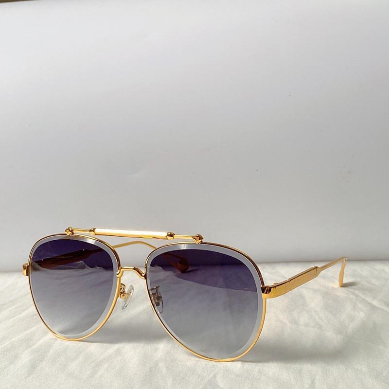 0973 Frauen Sonnenbrillen ovale Metallrahmen Sonnenbrille reizend eleganter Stil anti-UV400 Objektiv Freizeit Brille mit ca