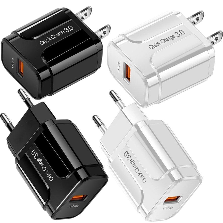 Rápido rápido carregamento da UE QC3.0 carregador de parede do adaptador de energia para iPhone samsung andriod phone pc mp3