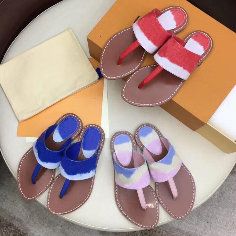 Designer les femmes de la mode d'été de la plage flip-flops 100% cuir lettres dame chaussons de bain de luxe dames pantoufles grande taille 35-42 US11