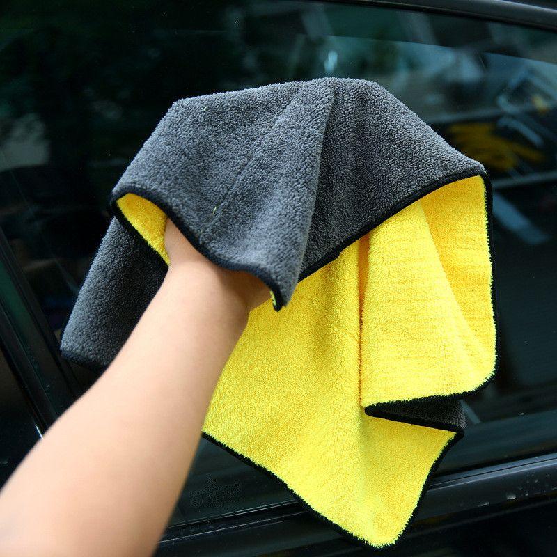 GT29 Microfiber Towel Car Care Polishing Wash Towels Plush Washing Drying Towel Thick Plush Polyester Fiber Car Cleaning Cloth