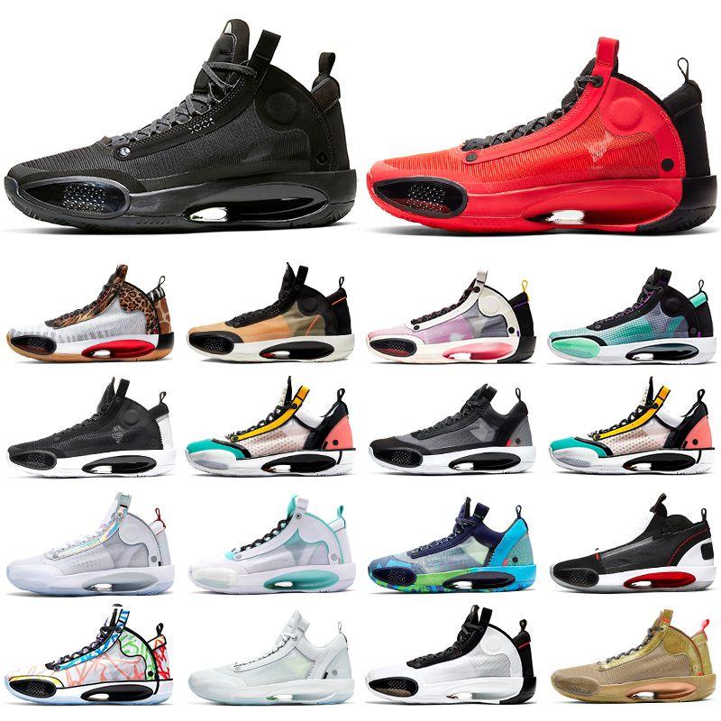 Jumpman sapatos 34 basquete para homens 34s Eclipse Crispy Bred azuis Vácuo Bayou Meninos Âmbar Levanta Red Orbit Infrared 23 homens tênis esportivos