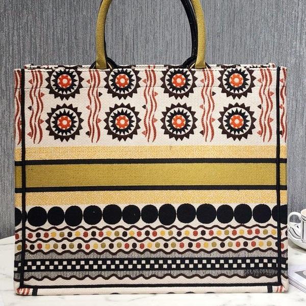 donne borsa shopping di alta qualità di disegno di marca di modo di stampa a colori jacquard floreali tela borsa grande libro tote bag donne grandi Shoulder Bag