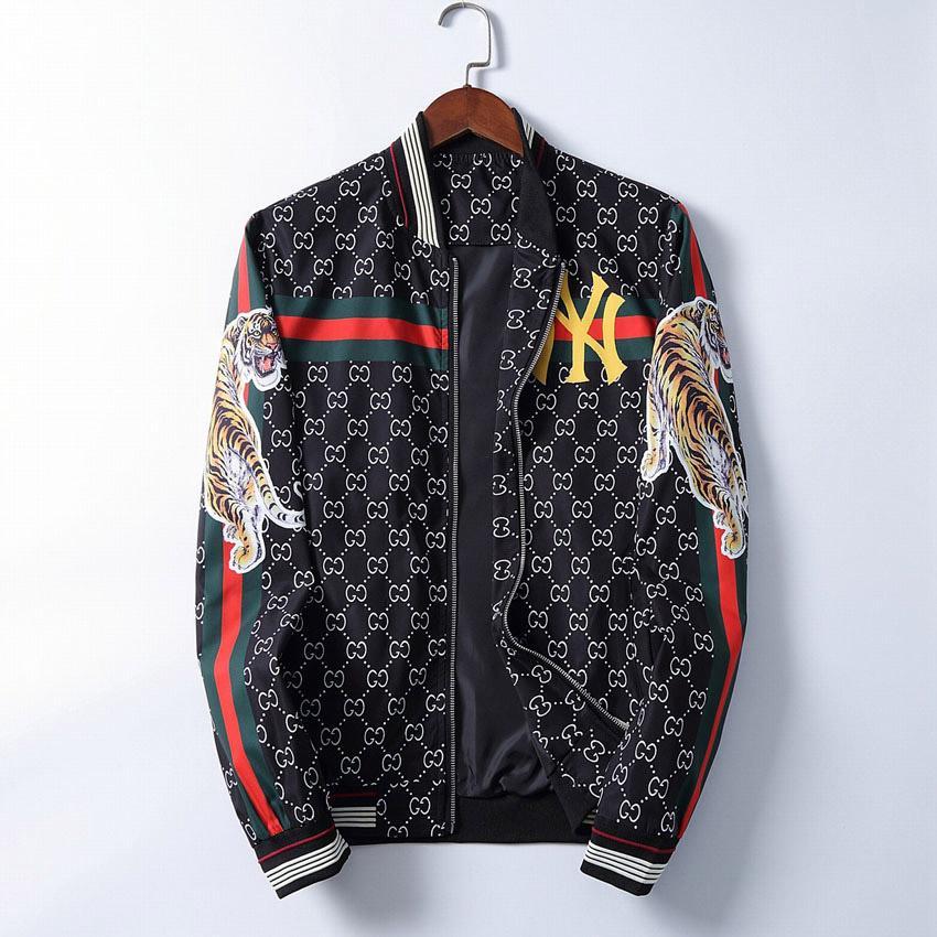 Fashion Designer jaqueta corta-vento manga comprida Mens Jackets Hoodie Vestuário Zipper Carta Com animal Padrão Plus Size Clothes M-3XL # 888